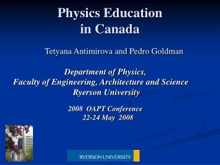 Physics Education  in Canada