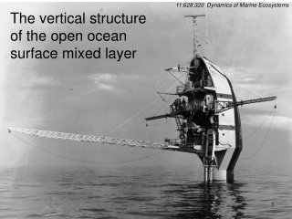The vertical structure of the open ocean surface mixed layer