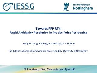 Towards PPP-RTK:  Rapid Ambiguity Resolution in Precise Point Positioning