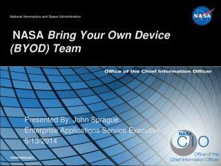 NASA  Bring Your Own Device (BYOD) Team