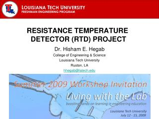 Resistance Temperature  detector (RTD) project