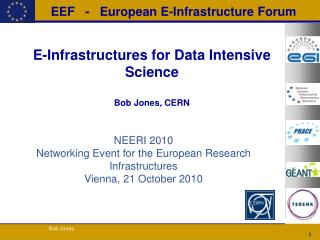 E-Infrastructures for Data Intensive Science Bob Jones, CERN