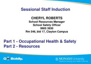 Sessional  Staff Induction