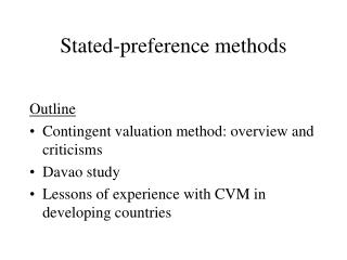 Stated-preference methods