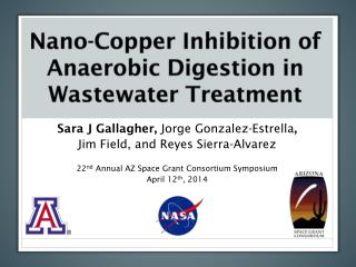 Nano-Copper  Inhibition of Anaerobic Digestion in Wastewater Treatment