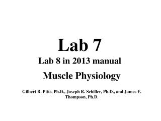 Lab 7 Lab 8 in 2013 manual