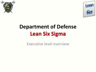 Department of Defense Lean Six  Sigma