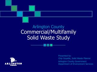 Arlington County Commercial/Multifamily  Solid Waste Study