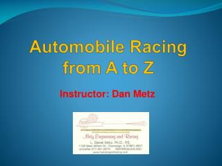 Automobile Racing  from A to Z