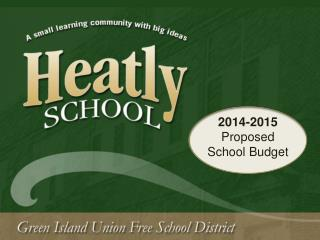 2014-2015  Proposed  School Budget