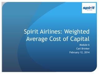 Spirit Airlines: Weighted Average Cost of Capital