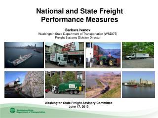 Barbara Ivanov Washington State Department of Transportation (WSDOT)