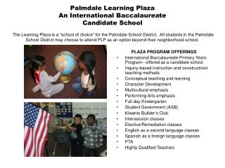 PLAZA PROGRAM OFFERINGS