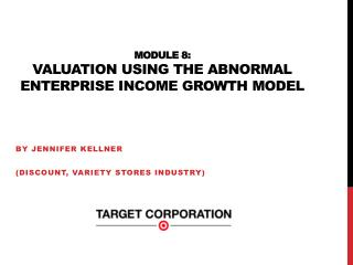 Module 8:  Valuation Using the abnormal Enterprise Income growth Model