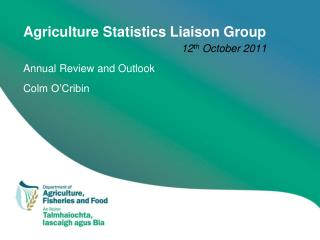 Agriculture Statistics Liaison Group