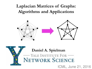 Laplacian Matrices of Graphs: Algorithms and Applications