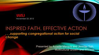 Inspired Faith, Effective  Action