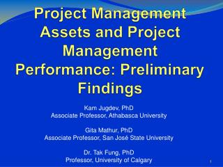 Project Management Assets and Project Management Performance: Preliminary Findings