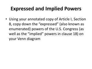 Expressed and Implied Powers