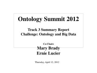 Ontology Summit 2012