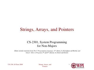 Strings, Arrays, and Pointers