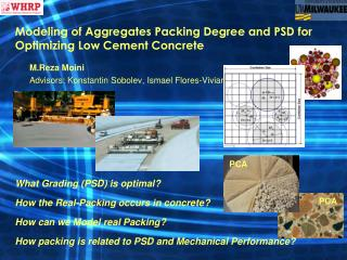Modeling of Aggregates Packing Degree and  PSD  for Optimizing Low Cement Concrete