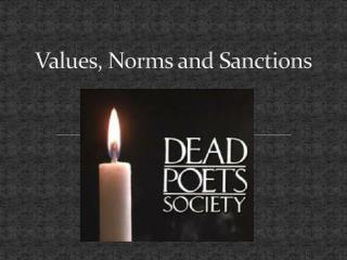 Values, Norms and Sanctions