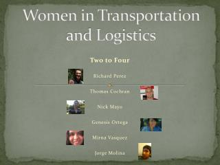 Women in Transportation and Logistics
