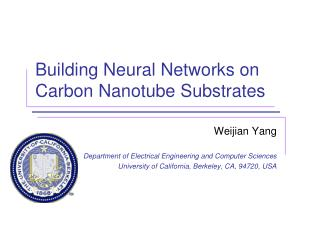Building Neural Networks on Carbon  Nanotube  Substrates