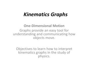 Kinematics Graphs