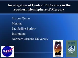 Investigation of Central Pit Craters in the Southern Hemisphere of Mercury