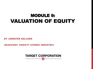 Module 9:  Valuation of equity
