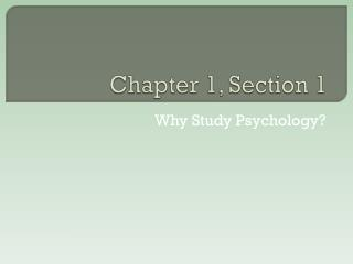 Chapter 1, Section 1