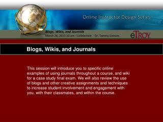 Online Instructor Design Series