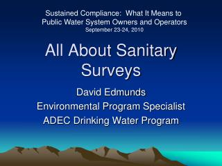All About Sanitary Surveys