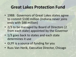 Great Lakes Protection Fund
