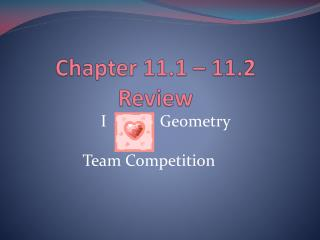 Chapter 11.1 – 11.2 Review
