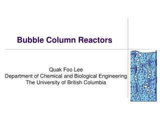 Bubble Column Reactors
