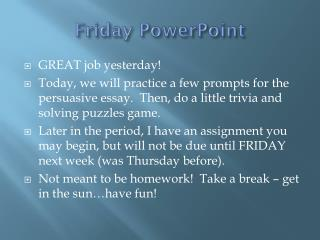 Friday PowerPoint