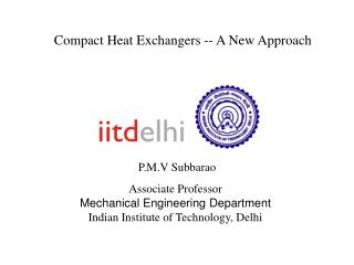 Compact Heat Exchangers -- A New Approach