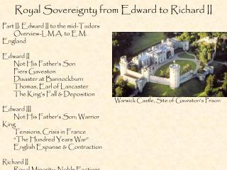 Royal Sovereignty from Edward to Richard II