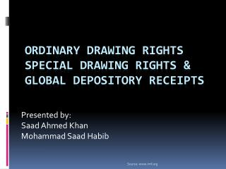 Ordinary drawing rights special drawing rights & global depository receipts