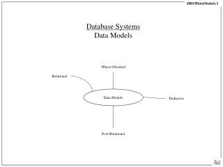 Database Systems Data Models