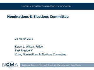 Nominations & Elections  Committee