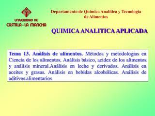ANALISIS QUIMICO
