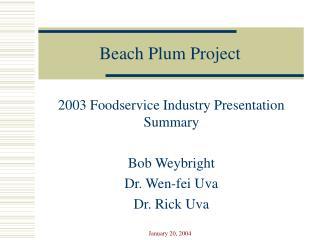 Beach Plum Project