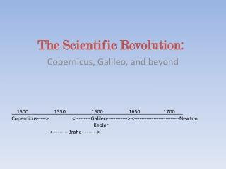 The Scientific Revolution: