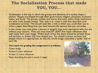 The Socialization Process that made YOU, YOU…