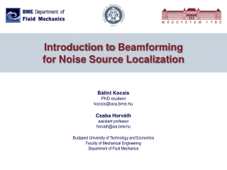 Introduction to Beamforming for Noise Source Localization