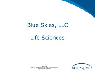 Blue Skies, LLC Life Sciences